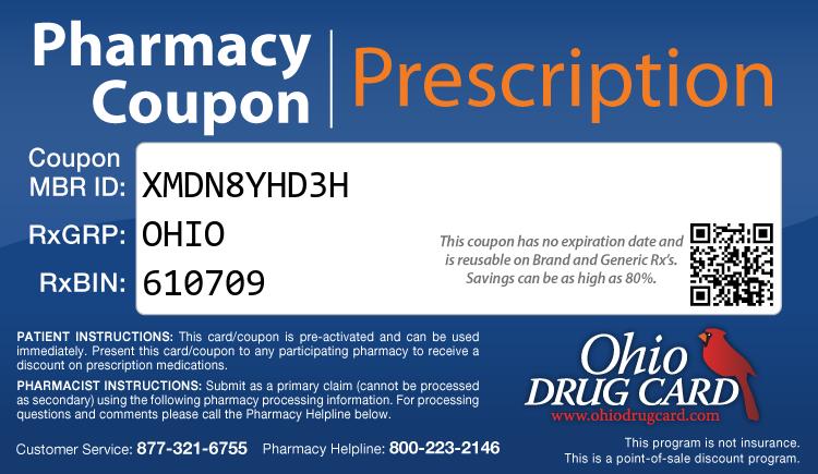Ohio Drug Card - Free Prescription Drug Coupon Card